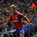 In this photo taken on Tuesday, Nov. 5, 2013, CSKA Moscow's Keisuke Honda controls the ball during the Champions League Group D soccer match against Manchester City at the Etihad Stadium in Manchester, England. AC Milan says CSKA Moscow and Japan forward