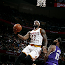 CLEVELAND, OH - JANUARY 30: LeBron James #23 of the Cleveland Cavaliers shoots against the Sacramento Kings at The Quicken Loans Arena on January 30, 2015 in Cleveland, Ohio. (Photo by Gregory Shamus/NBAE via Getty Images)