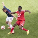 Chivas USA's Ryan Finley tries to defend the ball against Toronto FC's Warren Creavalle during the second half of an MLS soccer game in Toronto on Sunday, Sept. 21, 2014 The Associated Press