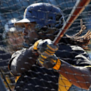 Pittsburgh Pirates' Andrew McCutchen hits during batting practice before an exhibition spring training baseball game against the Boston Red Sox in Bradenton, Fla., Monday, March 3, 2014 The Associated Press