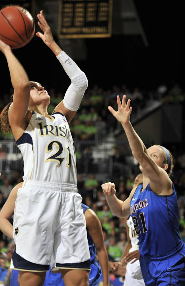 No. 5 Notre Dame women beat No. 25 DePaul 92-76