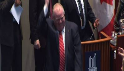 Toronto Mayor Rob Ford Caught Dancing at Work