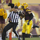 Arizona State running back D.J. Foster scores a touchdown against Weber State during the second half of an NCAA college football game, Thursday, Aug. 28, 2014, in Tempe, Ariz The Associated Press