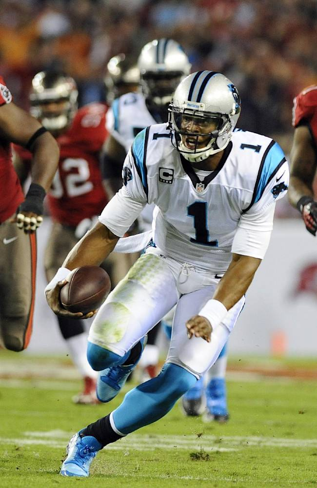 Newton throws for 2 TDs, Panthers beat Bucs 31-13