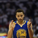 NEW ORLEANS, LA - APRIL 25: Stephen Curry #30 of the Golden State Warriors reacts as time expires during Game Four in the first round of the 2015 NBA Playoffs against the New Orleans Pelicans at the Smoothie King Center on April 25, 2015 in New Orleans, Louisiana. (Photo by Stacy Revere/Getty Images)