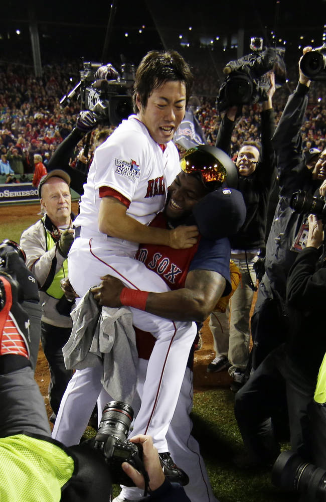 Red Sox win 6-1, 1st WS title at home since 1918