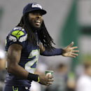 Seattle Seahawks cornerback Richard Sherman reacts to a play in the second half of a preseason NFL football game against the San Diego Chargers, Friday, Aug. 15, 2014, in Seattle The Associated Press