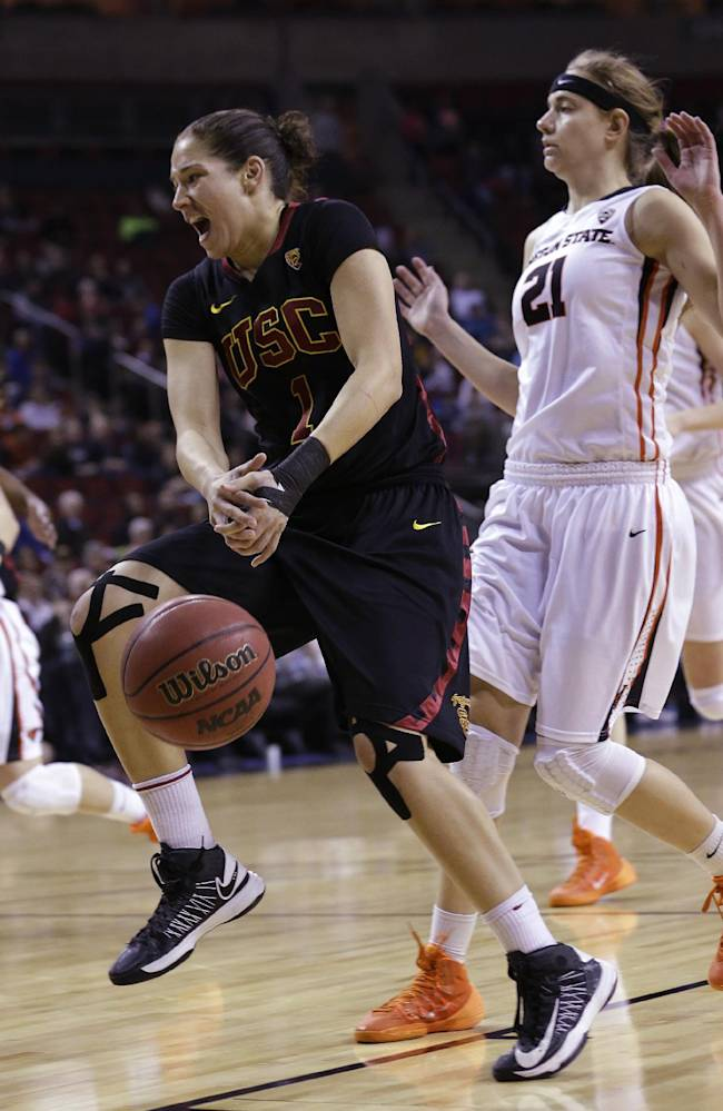 USC rallies past Oregon St 71-62 for Pac-12 title
