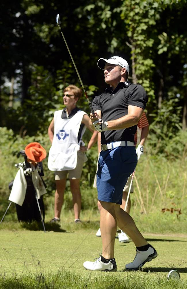 Zander Lombard watches his tee shot during the Southern Amateur Championship golf tournament Wednesday, July 16, 2014, at the Honors Course in Ooltewah, Tenn