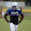 Indianapolis Colts outside linebacker Robert Mathis waits for a drill during NFL football training camp Tuesday, Aug. 12, 2014, in Anderson, Ind The Associated Press