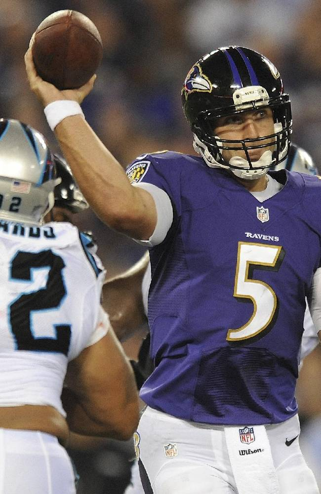 Panthers score 4 TDs on returns, beat Ravens 34-27