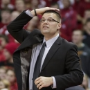 FILE - In this Dec. 12, 2012 file photo, Wisconsin-Green Bay coach Brian Wardle directs his team during the second half of an NCAA college basketball game against Wisconsin in Madison, Wis. A second complaint has been lodged against the men's basketball coach at Wisconsin-Green Bay, this one alleging verbal abuse and bullying. Gina Cougill, the mother of senior forward Brennan Cougill, wrote to university Chancellor Thomas Harden last week, shortly after the parents of former center Ryan Bross filed the initial complaint against coach Brian Wardle. (AP Photo/Andy Manis, File)