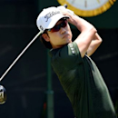 Kevin Na hits his tee shot on the 1st hole during the final round of The Players Championship at TPC Sawgrass - Stadium Course. Mandatory Credit: John David Mercer-USA TODAY Sports