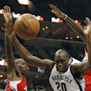 Memphis Grizzlies guard Quincy Pondexter (20) loses a rebound between Los Angeles Clippers center DeAndre Jordan (6) and guard Jamal Crawford, left, in the second half of an NBA basketball game on Thursday, Dec. 5, 2013, in Memphis, Tenn. The Clippers won