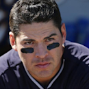 New York Yankees' Jacoby Ellsbury stands in the dugout between innings of an exhibition spring training baseball game against the Detroit Tigers in Lakeland, Fla., Friday, Feb. 28, 2014. The Yankees on 7-4 The Associated Press