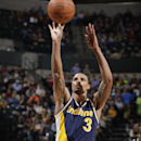 INDIANAPOLIS - FEBRUARY 27: George Hill #3 of the Indiana Pacers attempts a free throw against the Cleveland Cavaliers at Bankers Life Fieldhouse on February 27, 2015 in Indianapolis, Indiana. (Photo by Jeff Haynes/NBAE via Getty Images)