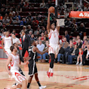 HOUSTON, TX - FEBRUARY 27: Terrence Jones #6 of the Houston Rockets goes up for a dunk against the Brooklyn Nets during the game on February 27, 2015 at the Toyota Center in Houston, Texas. (Photo by Bill Baptist/NBAE via Getty Images)