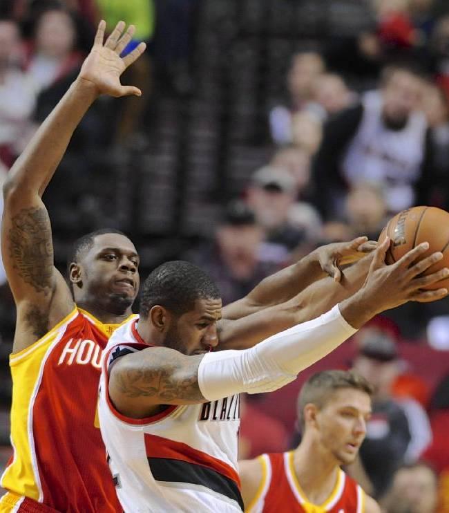 Aldridge leads Trail Blazers past Rockets, 111-104