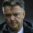 Manchester United manager Louis van Gaal takes to the touchline before the team's English Premier League soccer match between Manchester United and Liverpool at Old Trafford Stadium, Manchester, England, Sunday Dec. 14, 2014