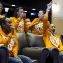 Tennessee players, from right, Meighan Simmons, Andraya Carter, Bashaara Graves, Ariel Massengale, and Jasmine Jones watch a broadcast of the NCAA women's college basketball tournament selection show on Monday, March 18, 2013, in Knoxville, Tenn. Tennessee is scheduled to face Oral Roberts Saturday in Knoxville. (AP Photo/The Knoxville News Sentinel, Saul Young)
