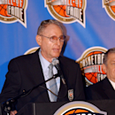 SPRINGFIELD, MA - SEPTEMBER 10: Bill Sharman addresses the media at the Naismith Memorial Basketball Hall of Fame on September 10, 2004 in Springfield, Massachusetts. (Photo by Terrence P. Vaccaro/NBAE via Getty Images)