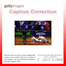 CAPTION CORRECTION: World Series - San Francisco Giants v Kansas City Royals - Game Six Getty Images