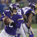In this Dec. 1, 2013 photo, Minnesota Vikings quarterback Matt Cassel looks to throw a pass during the second half of an NFL football game against the Chicago Bears in Minneapolis. Cassel took over for quarterback Christian Ponder, after Ponder took a hi
