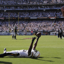 10ThingstoSeeSports - San Diego Chargers tight end Antonio Gates celebrates his touchdown against the Seattle Seahawks during the second half of an NFL football game on Sunday, Sept. 14, 2014, in San Diego The Associated Press