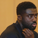 Liverpool Football Club defender Kolo Toure answers questions during a news conference, Tuesday, July 29, 2014, in New York. Liverpool will take on Manchester City Football Club at Yankee Stadium on Wednesday in the Guinness International Champions Cup