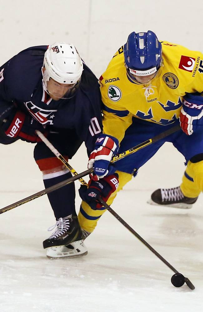 Sweden v USA Blue - 2014 USA Hockey Junior Evaluation Camp