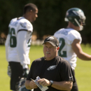 Philadelphia Eagles head coach Chip Kelly directs his players during NFL football practice at the team's training facility, Tuesday, Sept. 30, 2014, in Philadelphia The Associated Press
