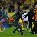 Football Soccer - Villarreal v Liverpool - UEFA Europa League Semi Final First Leg - El Madrigal Stadium, Villarreal, Spain - 28/4/16 Villarreal coach Marcelino Garcia Toral celebrates after Adrian scored their first goal Reuters / Albert Gea Livepic EDITORIAL USE ONLY.