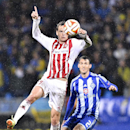 Kiev's Danilo Silva, right, and Aaborg's Thomas Enevoldsen compete for the ball during their Europa League Group J match between Aalborg Boldklub and Dynamo Kiev in Aalborg Denmark, Thursday, Oct. 23, 2014 The Associated Press