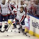 Washington Capitals' Nicklas Backstrom (19) prepares for his team's NHL hockey game against the Florida Panthers, Thursday, Feb. 27, 2014 in Sunrise, Fla The Associated Press