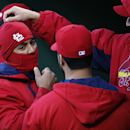 St. Louis Cardinals starting pitcher Michael Wacha, right, and Jon Jay, left, play around in the dugout before a baseball game against the Pittsburgh Pirates in Pittsburgh on Saturday, April 5, 2014. The Cardinals won 6-1 The Associated Press