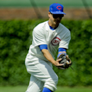 Chicago Cubs second baseman Darwin Barney makes a catch during a baseball game against the Pittsburgh Pirates on Sunday, June 22, 2014, in Chicago. (AP Photo/Matt Marton)