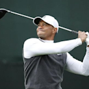 Jan 30, 2015; Scottsdale, AZ, USA; Tiger Woods hits his drive on the 17th hole during the second round of the Waste Management Phoenix Open at TPC Scottsdale. Rob Schumacher-Arizona Republic via USA TODAY Sports
