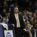 Rhode Island assistant coach Bobby  Hurley in the second half of an NCAA college basketball game against Butler in Indianapolis, Saturday, Feb. 2, 2013. Butler defeated Rhode Island 75-68. (AP Photo/Michael Conroy)