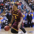 Arizona State's Jahii Carson drives to the lane against UCLA during a Pac-12 tournament NCAA college basketball game, Thursday, March 14, 2013, in Las Vegas. (AP Photo/Julie Jacobson)