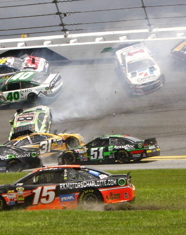 Almirola wins rain-cut NASCAR race at Daytona