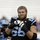 North Carolina's James Hurst (68) warms up prior to an NCAA college football game against Old Dominion in Chapel Hill, N.C., Saturday, Nov. 23, 2013 The Associated Press