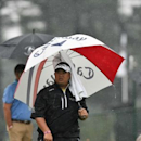 Jul 29, 2016; Springfield, NJ, USA; Kiradech Aphibarnrat on the practice green during the second round of the 2016 PGA Championship golf tournament at Baltusrol GC - Lower Course. Mandatory Credit: Eric Sucar-USA TODAY Sports
