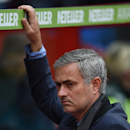 Chelsea manager Jose Mourinho is seen ahead of their English Premier League soccer match against Crystal Palace at Selhurst Park, London, Saturday, Oct. 18, 2014