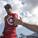 Sprint Cup Series driver Kyle Larson during the Daytona 500 auto race on Feb., 22, 2015 in Daytona Beach, Fla. (AP Photo/Reinhold Matay