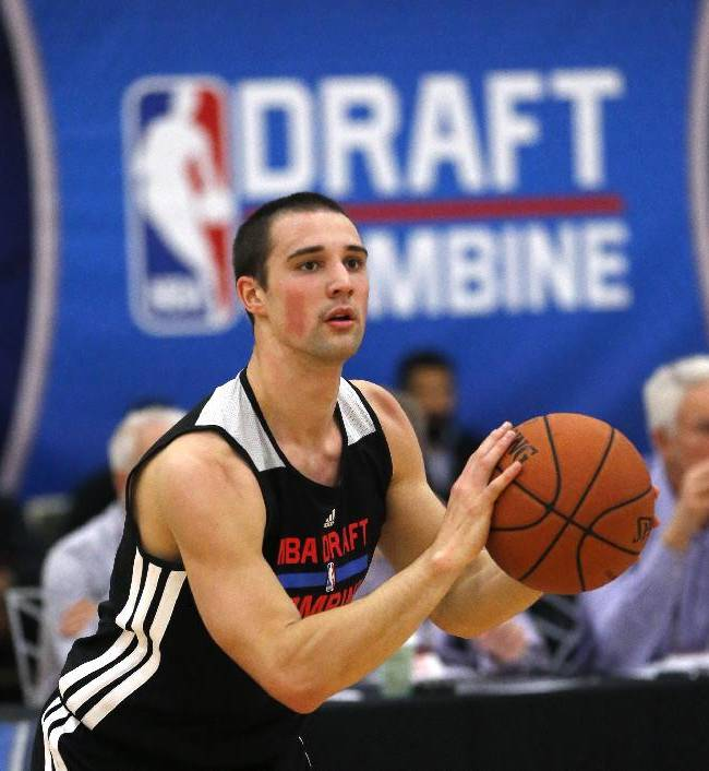 Aaron Craft from Ohio State participates in the 2014 NBA basketball Draft Combine Thursday, May 15, 2014, in Chicago