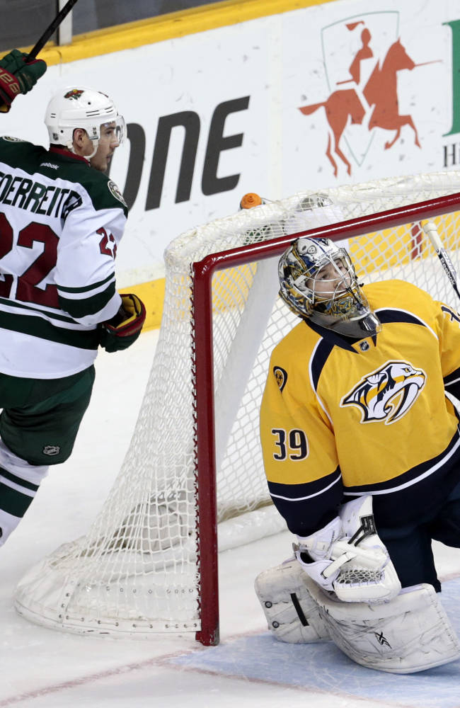Heatley, Kuemper lead Wild past Predators, 4-0