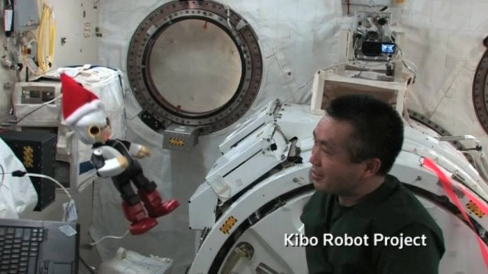 Japanese robot asks Santa for toy rocket, in space