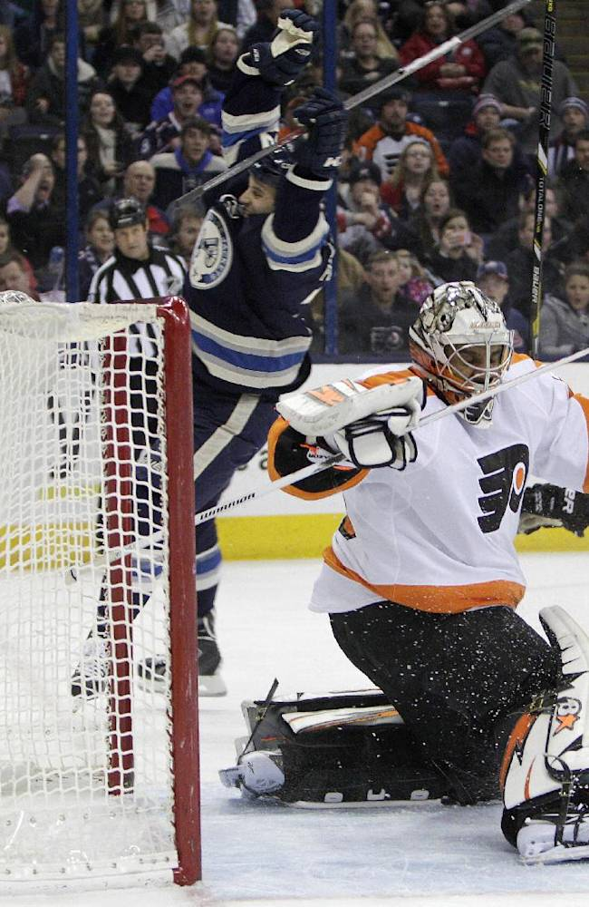 Blue Jackets win 8th straight, top Flyers 5-2