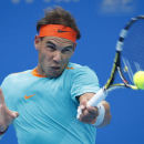Rafael Nadal of Spain returns a shot from Richard Gasquet of France during the China Open tennis tournament at the National Tennis Stadium in Beijing, China, Tuesday, Sept. 30, 2014. (AP Photo/Vincent Thian)