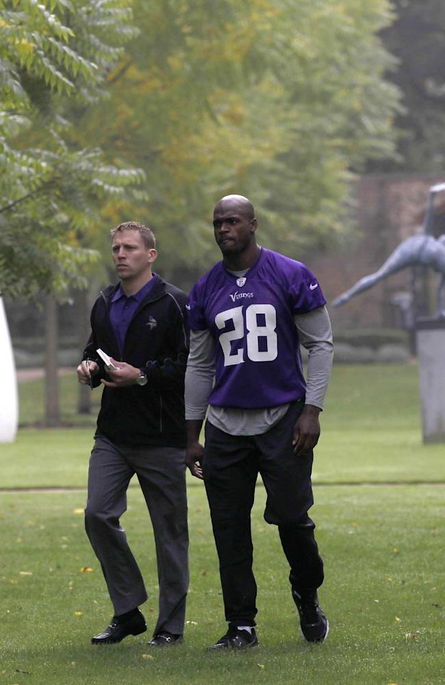 Vikings hope Peterson can break loose in London
